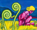 nude painting of a woman in a field of giant fiddlehead ferns in Alaska